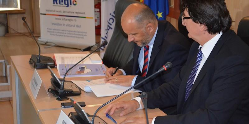 Semnare contract de finantare nerambursabila Regio-POR_Timisoara_28 iulie 2014